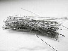 100pcs Rhodium Tone Base Metal Head Pins-76mm (3 Inch) (XL) (I-100R)