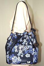 7aa133f045b3 Michael Kors Greenwich Medium Bucket Floral Navy Crossbody Bag 35H7GGRM6T