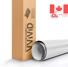 White 3D Carbon Fiber Vinyl Wrap Roll with VViViD XPO Air Release Technology ...