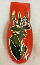 Vintage Halloween Kirchhof Clicker Noisemaker, Witch, Black Cat