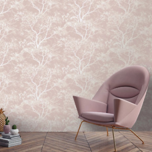 Dusky Pink Whispering Trees Wallpaper by Holden Statement 65400