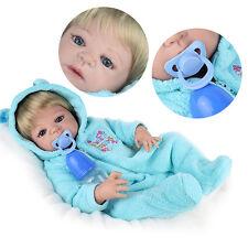 55cm Lebensecht Handgefertigt Baby Puppe Weich Silikon Vinyl Mädchen Junge HOT
