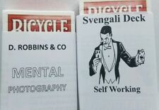 Mental Photography Deck and SVENGALI DECK- 2 magic card decks Red backs new!