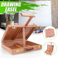 Portable Folding Easel Art Drawing Painting Wood Table Desktop Box Board Case
