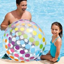 """42"""" INTEX LARGE GIANT INFLATABLE BLOW UP JUMBO BEACH BALL HOLIDAY POOL PARTY"""