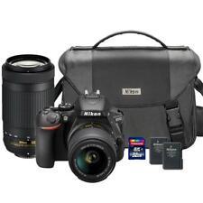 Nikon D5600 DSLR Camera w/ Nikon 18-55mm 70-300mm Lens 32GB Card & Extra Battery