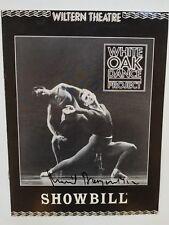 Mikhail Baryshnikov Signed Ballet Dance Showbill Program