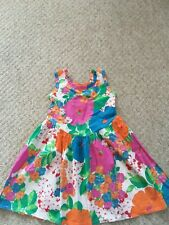 Girls Vintage Handmade 80's Floral Summer Dress Age 4/5/6 years bloggers