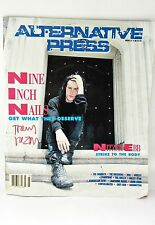 Trent Reznor NIN SIGNED Alternative Press Issue 31 1990 color cover Nitzer Ebb