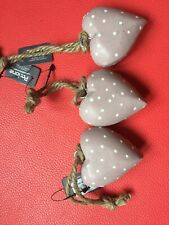 Set Of 3 Decorative Hearts NEW