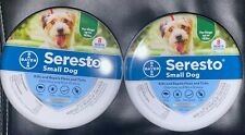 2 Bayer Seresto Flea and Tick Collars Small Dog Under 18lbs 8 Month Protection
