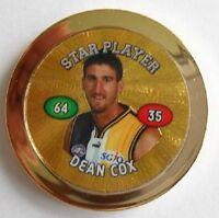 West Coast Eagles Football Club Dean Cox Midfielder Premium Gold AFL Topps Chipz