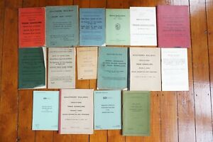 Railway Signal Box Signalling Books Single Double Lines Rule Books Collection