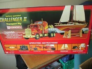 New Bright Remote Control Kenworth Semi Truck Set with Challenger II boat