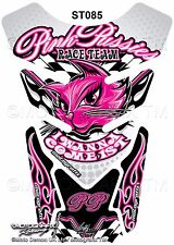 Pink Pussies Race Team Pussy Cat Motografix Motorcycle Tank Pad Protector 3D Gel