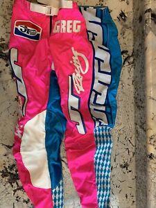 MOTOCROSS JT RACING CUSTOM PANTS PINK AND BLUE SIZE 36