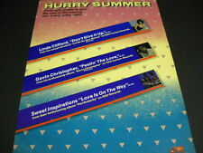 Linda Clifford Sweet Inspirations Gavin Christopher 1979 Hurry Summer Promo Ad