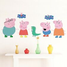Large Peppa Pig George Dino Wall decals Removable sticker kids art nursery decor