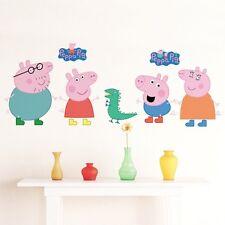 Large Peppa Pig George Dino Wall Decals Removable Sticker Kids Art Nursery Decor