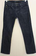 ROCK & REPUBLIC ~ Cosbie Dark Blue Denim Straight Leg Jeans Rhinestones ~ 27  9