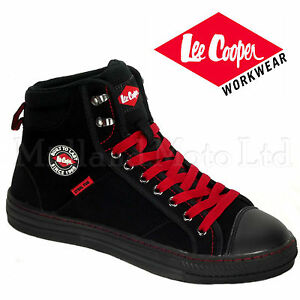 Lee Cooper Safety Black Steel Toe Cap Baseball Style Safety Boots Shoes LC022