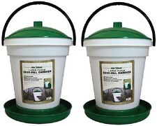 (2) Harris Farms 4234 6.25 Gallon Large Flock Poultry Game Bird Waterer Drinkers