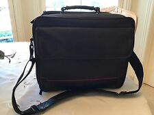 TARGUSBLACK FAUX LEATHER LAP TOP BAG W/PADDED STRAP 'in great condition'