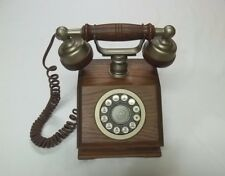 "Vintage 70's Western Electric ""Country Squire"" Wood Desk Tabletop Telephone EUC"