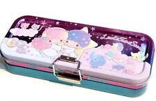 Little Twin Stars 3 Layer Pencil Pen Case Holder Stationery Metal Box Tin Sanrio