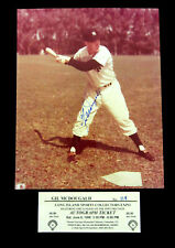 Signed 8x10 photo of Gil McDougald, d.'10, 1950 AL Rookie of the Year NY Yankees