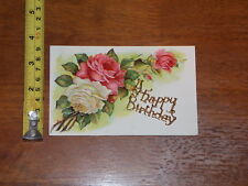 POSTCARD RARE VINTAGE GREETING CARD HAPPY BIRTHDAY PIN ON CARD