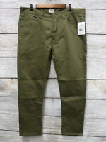 Parish Nation Mens Size 40X33 Olive Green Bull Denim Skinny Jeans New