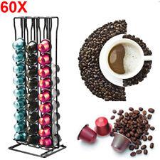 60 Pods Coffee Pod Holder for Nespresso Capsule Dispenser Storage Rack Stand