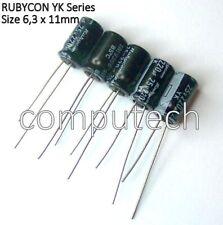 5 pezzi Condensatore 220uF 25V 85°C Rubycon YK Serie