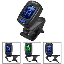 Clip-On Automatic Digital Electronic Crown Tuner LCD for Guitar Bass C8L7