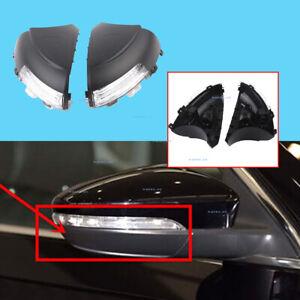 Pair For VW Tiguan Sharan Seat Left & Right Side Door Mirror Turn Signal Light