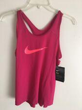 Girls Nike Pro Training Tank Shirt Top Pink Large Racer back NWT Neon
