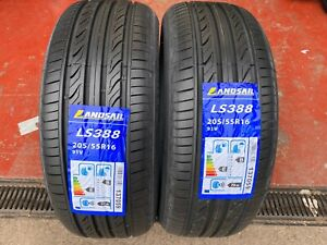 """X2 205 55 16 205/55ZR16 91V LANDSAIL BRAND NEW TYRES AMAZING """"B"""" RATED WET GRIP!"""