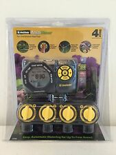 NEW Melnor AquaTimer 4-Zone 24 Cycle Digital Electronic Water / Hose Timer 33280