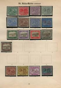 ST.KITTS & NEVIS: George V - Ex-Old Time Collection - Album Page (41017)