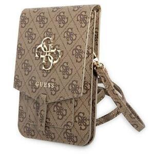 Guess kleine Luxus Handtasche Handytasche GUWBG4GFBR braun mit 4G Big Logo