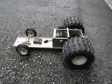 Vintage Remote Control Electric Pulling Truck Tractor Chassis Chain Gear Box RC