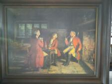 Vintage late 1800's Card Game of 3 Englishmen Framed Print