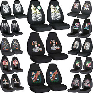 cc front set cotton car seat covers to fit  94-04 mustang Cobra- Wolf choose