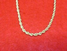 "14KT GOLD EP 20"" 4MM ROPE FRENCH STYLE CHAIN NECKLACE WITH MAGNETIC CLASP"