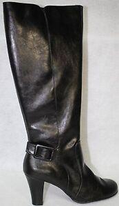 A2 By Aerosoles Money Role Women US Size 5.5 M Black Knee High Boot