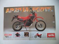 advertising Pubblicità 1986 MOTO APRILIA ETX 350