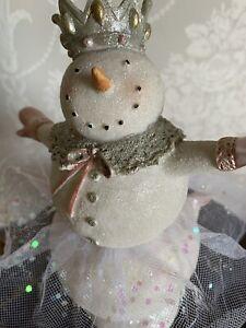 Heaven Sends Ballerina Snowman/woman Standing Christmas Decoration