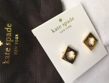Kate Spade New York Silver Hole Punch Spade Gold Earrings