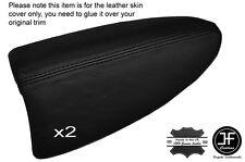 Black Stitch 2X Porte Arrière Accoudoir Skin Covers fits BMW Mini Clubman R55 07-14